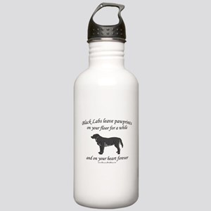 Black Lab Pawprints Stainless Water Bottle 1.0L
