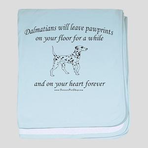 Dalmatian Pawprints baby blanket