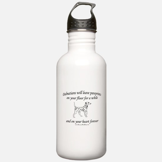 Dalmatian Pawprints Water Bottle
