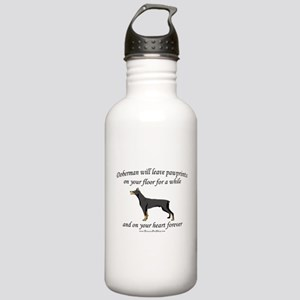 Doberman Pawprints Stainless Water Bottle 1.0L