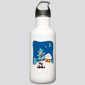 Christmas Siamese Stainless Water Bottle 1.0L