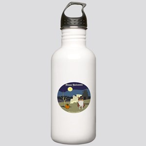 Halloween Collie Dog Stainless Water Bottle 1.0L