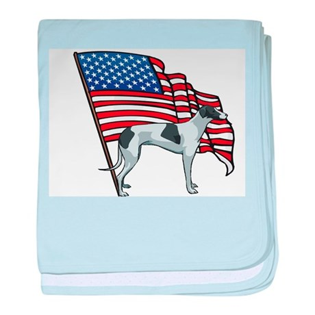 USA Greyhound baby blanket