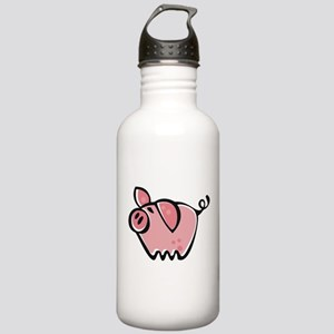 Cute Cartoon Pig Stainless Water Bottle 1.0L