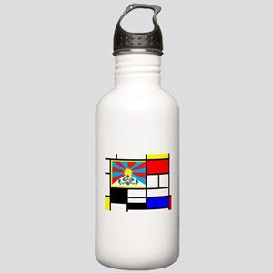 Pop Art Tibet Flag Stainless Water Bottle 1.0L