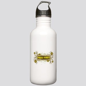 Vintage Flower Free Tibet Stainless Water Bottle 1