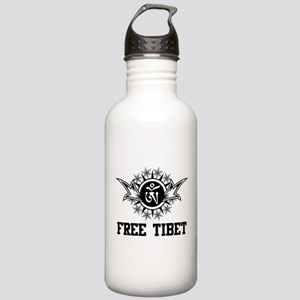 Stylized Tibetan Om Symbol Stainless Water Bottle