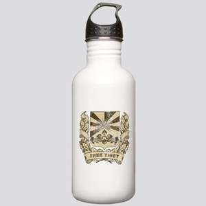 Vintage Free Tibet Crest Stainless Water Bottle 1.