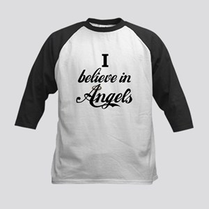 I BELEIVE IN ANGELS Kids Baseball Jersey