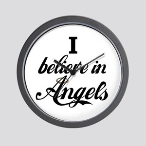 I BELEIVE IN ANGELS Wall Clock