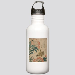 Hokusai Peony and Canary Stainless Water Bottle 1.