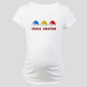 Trekkie Christmas Maternity T-Shirt