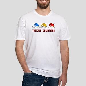 Trekkie Christmas Fitted T-Shirt