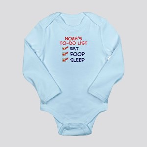 Noah's To-Do List Long Sleeve Infant Bodysuit