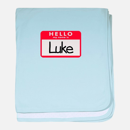 Hello Luke baby blanket