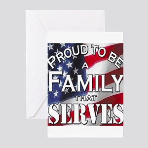 """Proud Family that Serves"" Greeting Cards (Pk of 2"