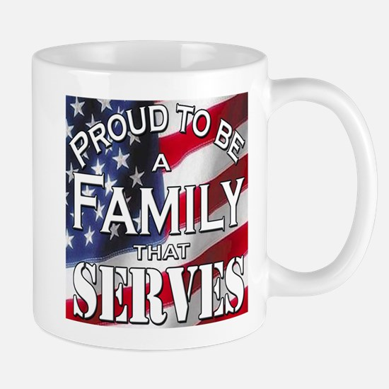 """Proud Family that Serves"" Mug"