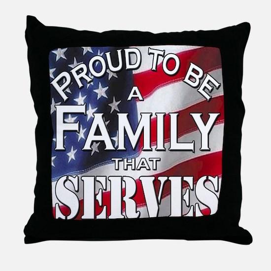 """Proud Family that Serves"" Throw Pillow"