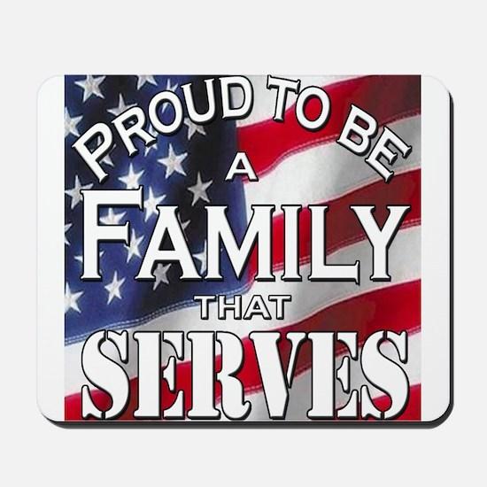 """Proud Family that Serves"" Mousepad"