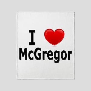 I Love McGregor Throw Blanket