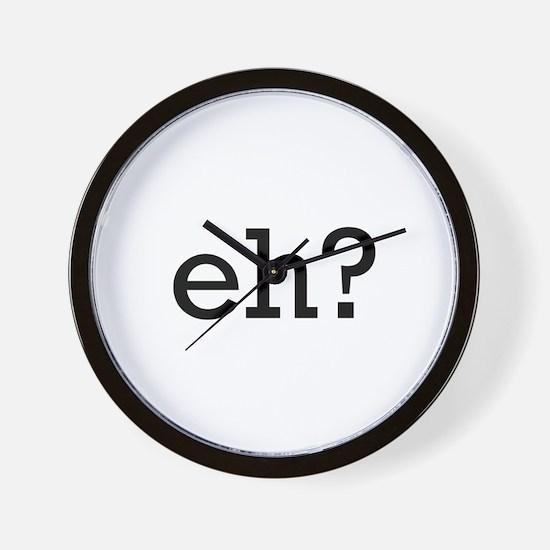 Eh? Wall Clock