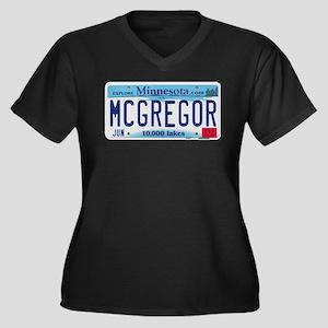 McGregor License Plate Women's Plus Size V-Neck Da