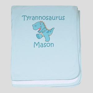 Tyrannosaurus Mason baby blanket