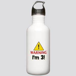 Warning I'm 3 Stainless Water Bottle 1.0L