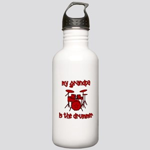 My Grandpa is the Drummer Stainless Water Bottle 1
