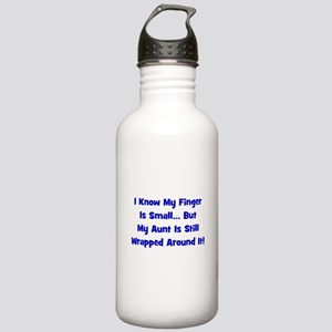 Aunt Wrapped Around Finger - Stainless Water Bottl