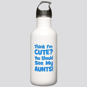 Think I'm Cute? AuntS (plural Stainless Water Bott