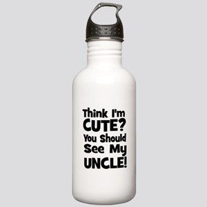 Think I'm Cute? Uncle - Black Stainless Water Bott
