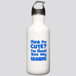 Think I'm Cute? Grandpa Blue Stainless Water Bottl