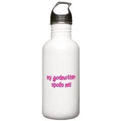 My Godmother Spoils Me! pink Water Bottle