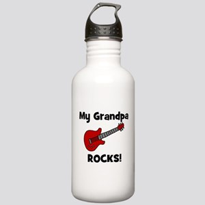 My Grandpa Rocks! (guitar) Stainless Water Bottle