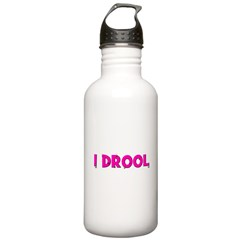 I Drool. - pink Water Bottle