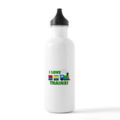 I Love Trains! Water Bottle