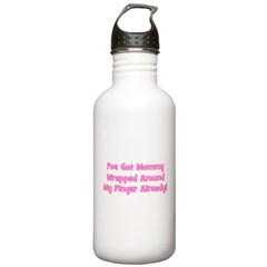 I've Got Mommy Wrapped Around Water Bottle