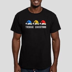 Trekkie Christmas Men's Fitted T-Shirt (dark)
