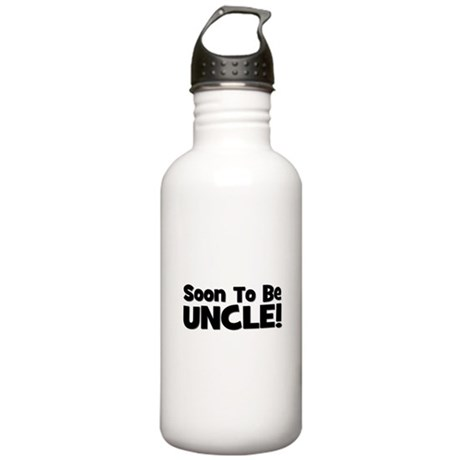 Soon To Be Uncle! Black Stainless Water Bottle 1.0