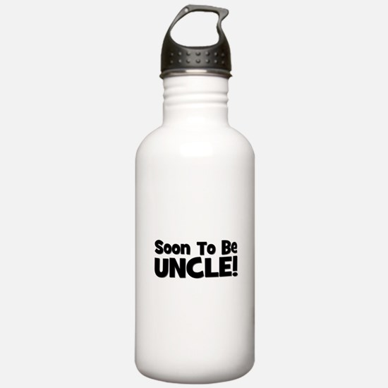 Soon To Be Uncle! Black Water Bottle