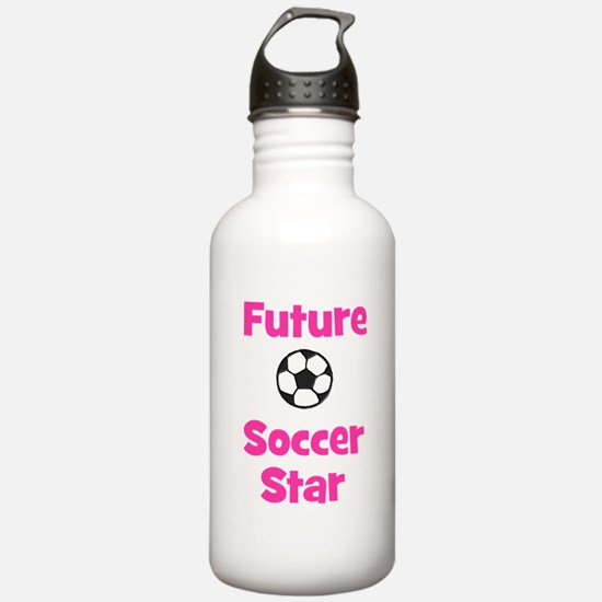 Future Soccer Star (pink) Water Bottle