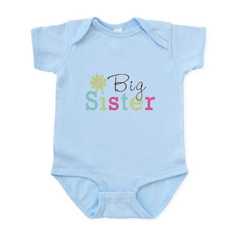 Big Sister Flower Infant Bodysuit