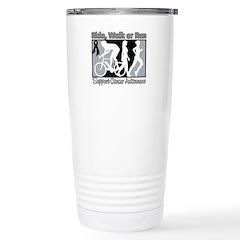 Skin Cancer RideWalkRun Stainless Steel Travel Mug