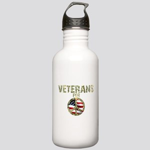Veterans For Peace Sign Stainless Water Bottle 1.0
