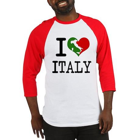 Italian I Love Italy Baseball Jersey