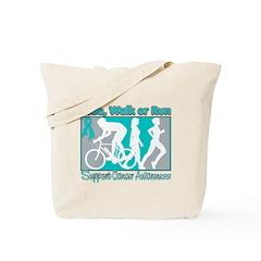 Ovarian Cancer RideWalkRun Tote Bag