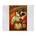 Chapel Tattooed Beautiful Lady Arctic Fleece Throw