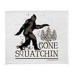 Sasquatch Gone Squatchin Arctic Fleece Throw Blank