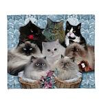 8 kitties blanket Arctic Fleece Throw Blanket